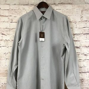 Perry Ellis Striped Buttoned Front Shirt